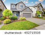 nice curb appeal of two level...   Shutterstock . vector #452715535