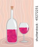 wine with love concept | Shutterstock .eps vector #45272251