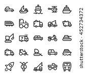 transport vector icons 6 | Shutterstock .eps vector #452734372