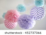 Party Pom Poms And Paper...