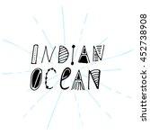 ethnic ocean hand drawn... | Shutterstock .eps vector #452738908