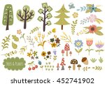 trees  plants and flowers... | Shutterstock .eps vector #452741902