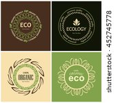 set of eco elements for natural ... | Shutterstock .eps vector #452745778