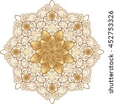 gold mandala  highly detailed... | Shutterstock .eps vector #452753326