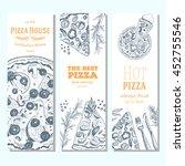 pizza banner design template.... | Shutterstock .eps vector #452755546