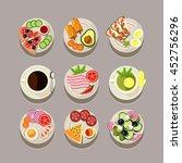 breakfast concept with fresh... | Shutterstock . vector #452756296