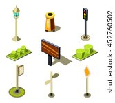 flat 3d isometric high quality... | Shutterstock . vector #452760502