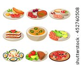 set of food icons european lunch | Shutterstock . vector #452760508