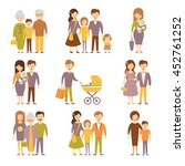 family figures icons set  | Shutterstock . vector #452761252