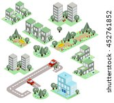 set of the isometric city  | Shutterstock . vector #452761852