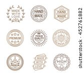 retro design insignias... | Shutterstock . vector #452761882