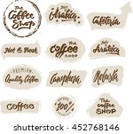 symbol  set of labels. logos... | Shutterstock .eps vector #452768146