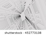 architecture abstract  3d... | Shutterstock . vector #452773138