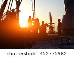 oil drilling exploration  the... | Shutterstock . vector #452775982