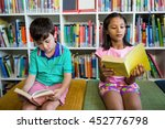 elementary students reading... | Shutterstock . vector #452776798