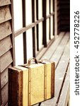 retro tone   an old suitcase on ... | Shutterstock . vector #452778226