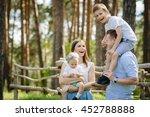 portrait of beautiful family of ... | Shutterstock . vector #452788888