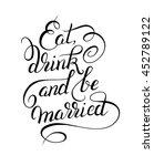 black and white handwritten... | Shutterstock .eps vector #452789122