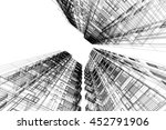 architecture abstract  3d... | Shutterstock . vector #452791906