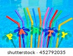 party decorations and colored... | Shutterstock . vector #452792035