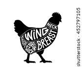 chicken cuts diagram facing... | Shutterstock .eps vector #452797105