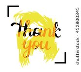 thank you handwritten. vector... | Shutterstock .eps vector #452800345