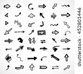 hand drawn arrows  vector set | Shutterstock .eps vector #452801446