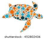 sea turtle shape vector design... | Shutterstock .eps vector #452802436