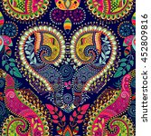 colorful paisley seamless... | Shutterstock .eps vector #452809816