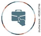 portfolio sign  vector icon | Shutterstock .eps vector #452813746