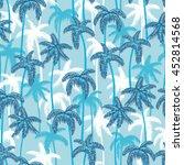 seamless retro style hawaii... | Shutterstock . vector #452814568