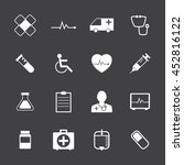 black and white medical icons... | Shutterstock .eps vector #452816122