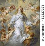 the virgin as intercessor  by... | Shutterstock . vector #452827336