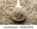 rosemary in wooden spoon. dry...   Shutterstock . vector #452831896