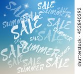 vector summer sale template on... | Shutterstock .eps vector #452840392