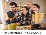 team of graphic designers...   Shutterstock . vector #452842036