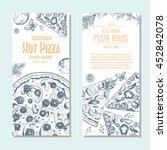 vegetarian pizza banner design...   Shutterstock .eps vector #452842078