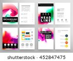business abstract template... | Shutterstock .eps vector #452847475