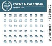calendar icon set vector | Shutterstock .eps vector #452848672