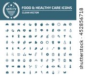food and healthy icon set vector | Shutterstock .eps vector #452856718