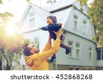 family  childhood  fatherhood ... | Shutterstock . vector #452868268