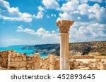 uins of ancient kourion.... | Shutterstock . vector #452893645
