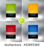 vector brochure or booklet... | Shutterstock .eps vector #452895385