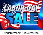 sale. labor day. | Shutterstock .eps vector #452896696