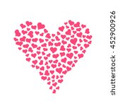 hand drawn vector hearts. | Shutterstock .eps vector #452900926