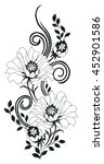 flower motif rose sketch | Shutterstock .eps vector #452901586