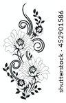 flower motif rose sketch | Shutterstock .eps vector #452901586