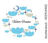 hand drawn ornamental frame | Shutterstock .eps vector #452914402