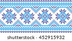 embroidered pattern on...   Shutterstock .eps vector #452915932