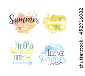summer vacation promo signs... | Shutterstock .eps vector #452916082
